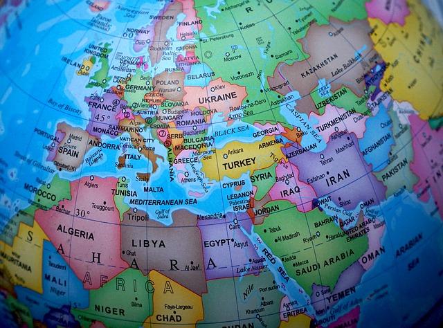 mapa de Europa con sus países